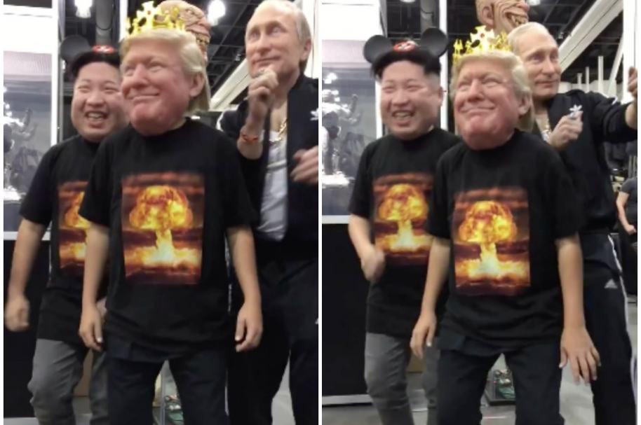 Máscaras de Kim Jong-un, Donald Trump y Vladimir Putin.