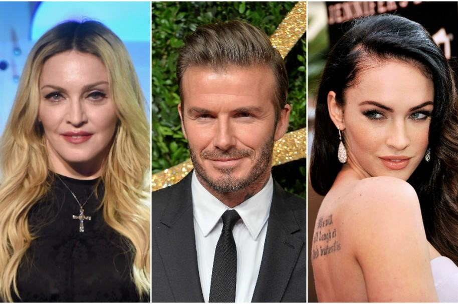 Madonna / David Beckham / Megan Fox
