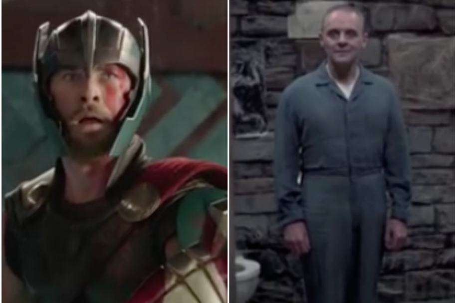 Thor y Hannibal Lecter en parodia.