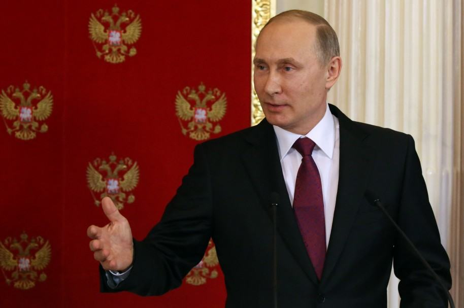 Vladimir Putin en Moscú