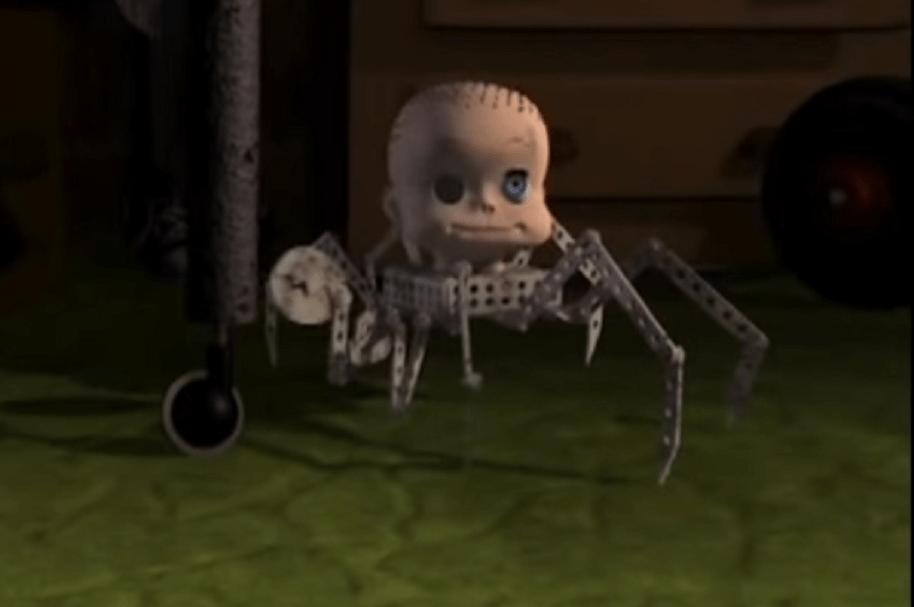 Bebé araña Toy Story código morse