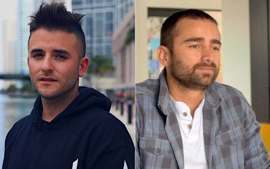 Juan Manuel Barrientos, chef y exjurado de 'La prueba', y Andrés Toro, actor de 'Venganza'.