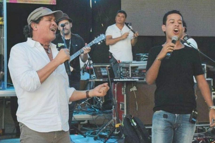 Carlos Vives junto a Martín Elías.