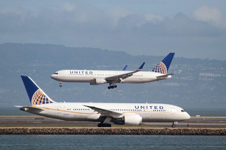 Dos aviones de United (imagen de archivo)