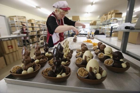 Conejos y huevos de Pascua