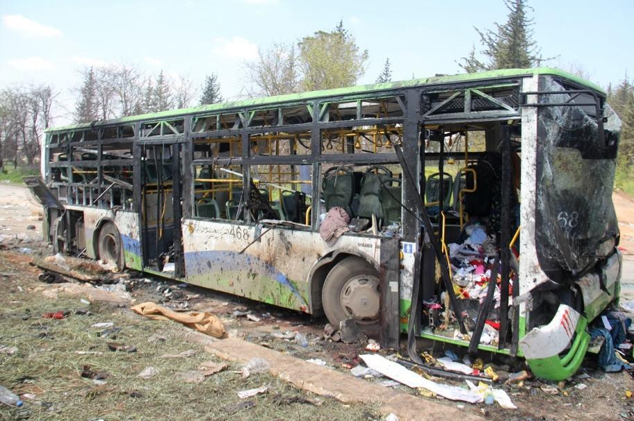 Ataque suicida a buses de evacuados en Siria