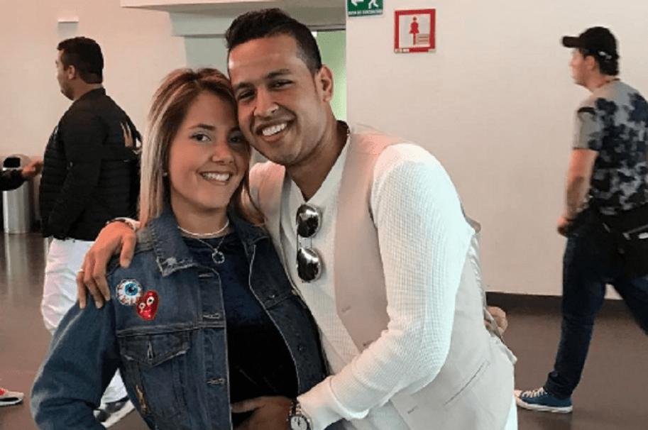 Dayana Jaimes, periodista, y Martín Elías, cantante vallenato