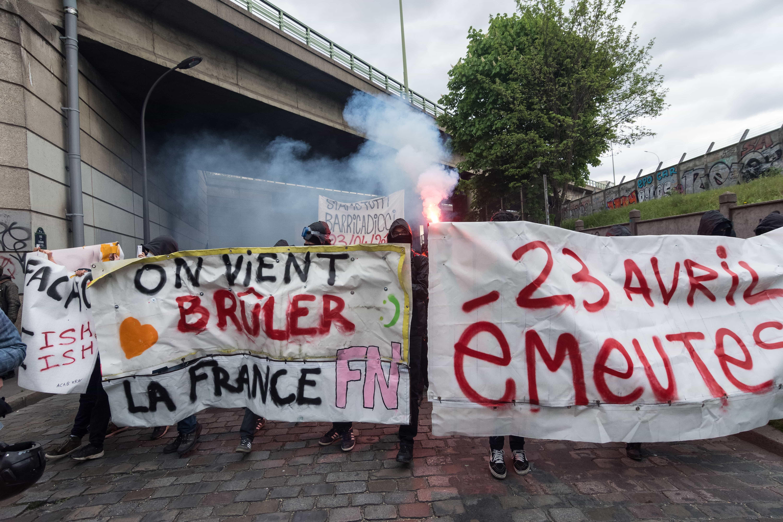 Protestas contra Marine Le Pen