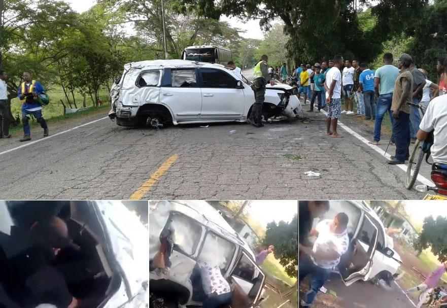 Saqueo camioneta en la que se accidentó Martín Elías