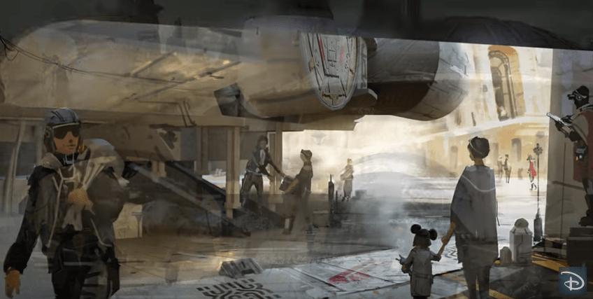 Ilustración de parques temáticos de Star Wars. Pulzo.com