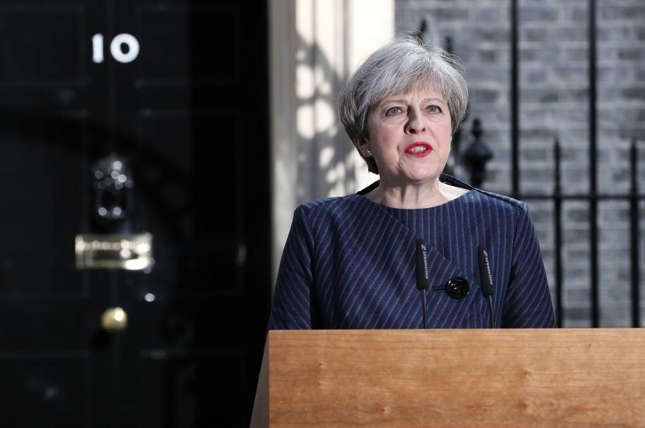 Theresa May en Downing Street