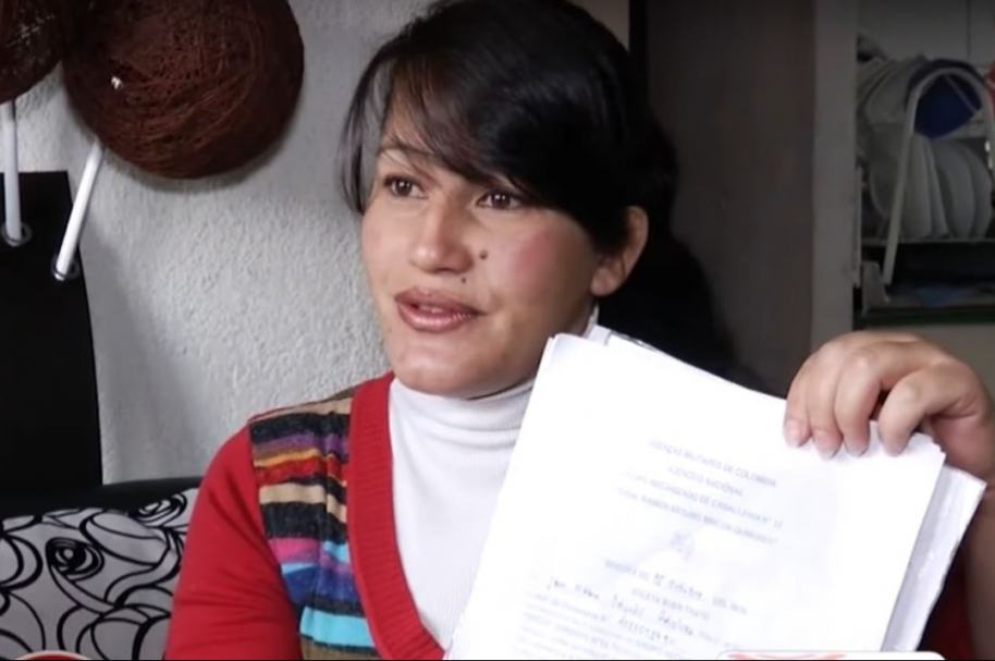 Ángela Peñaloza, madre del joven que murió