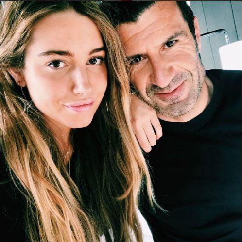 Daniela y Luis Figo