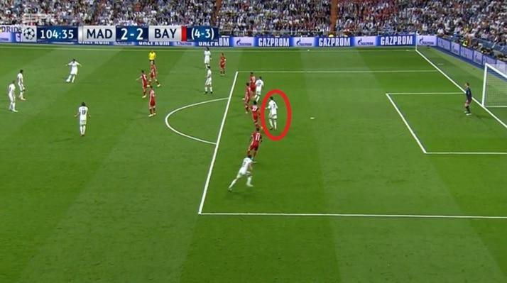 Cristiano Ronaldo en fuera de lugar