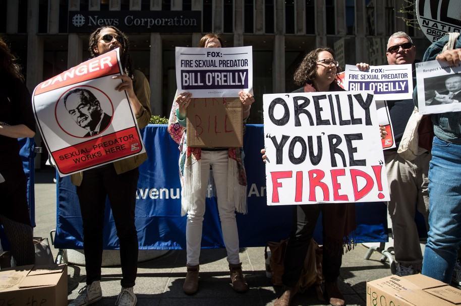 Manifestación contra Bill O'Reilly