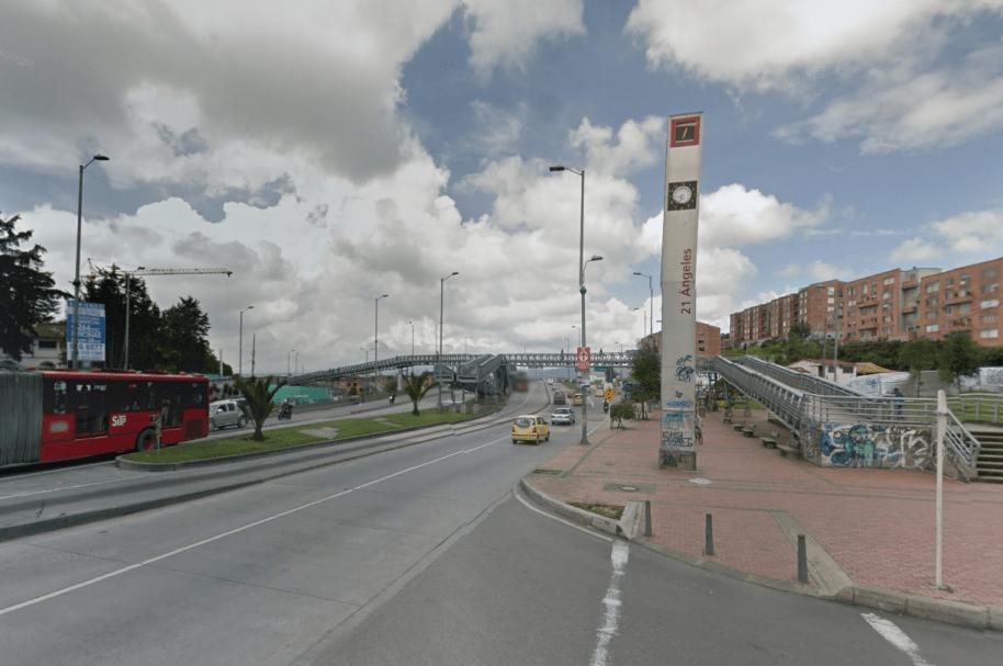 Estación de Transmilenio 21 Ángeles (Suba), norte de Bogotá