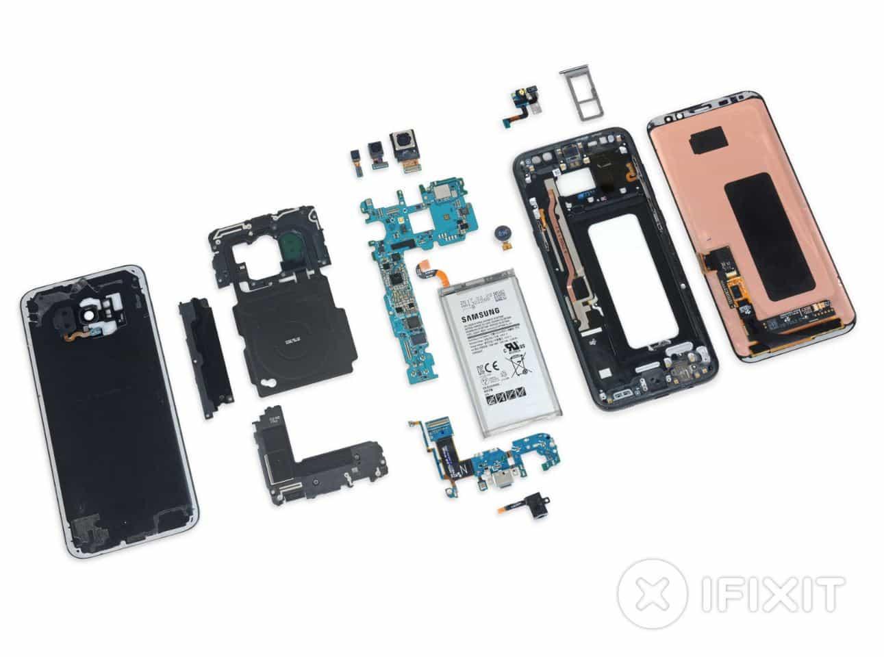 Samsung Galaxy S8+ desarmado