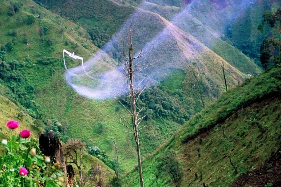 Aspersión aérea de glifosato en Colombia