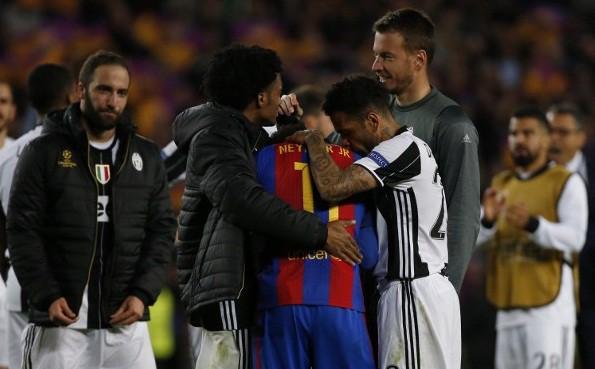 Cuadrado, Alves y Neymar