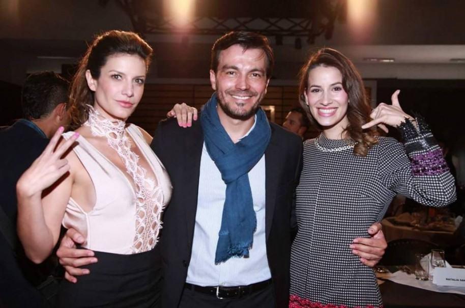 Mabel Moreno, Luciano D'Alessandro y Laura Londoño, actores de 'La ley del corazón'.