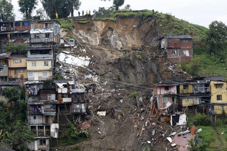 Uno de los deslizamientos de tierra ocurridos en Manizales tras fuertes lluvias. Pulzo.com