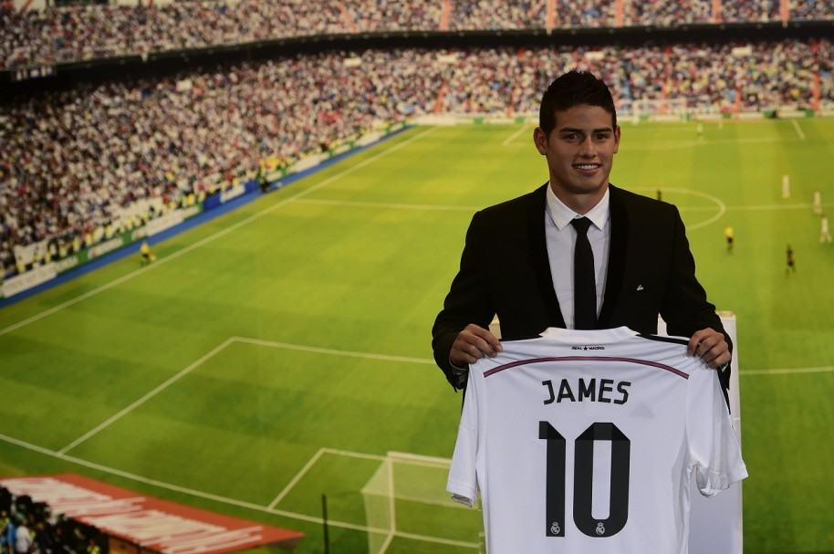 James Rodríguez en El Real Madrid