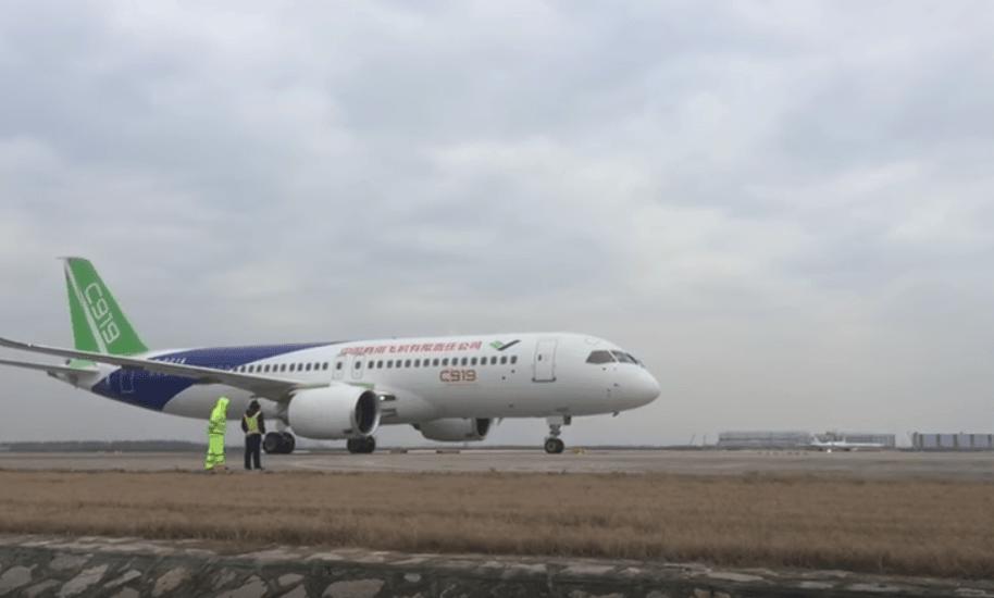 Avion de pasajeros chino