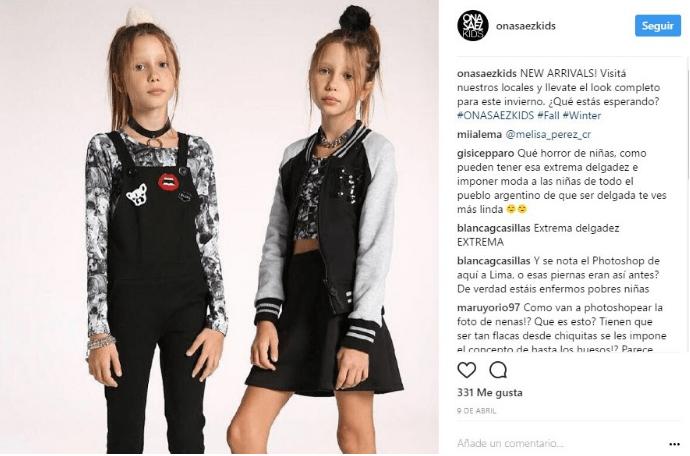 """e905eaa3bb Retiran campaña publicitaria de ropa por mostrar niñas """"muy delgadas"""""""