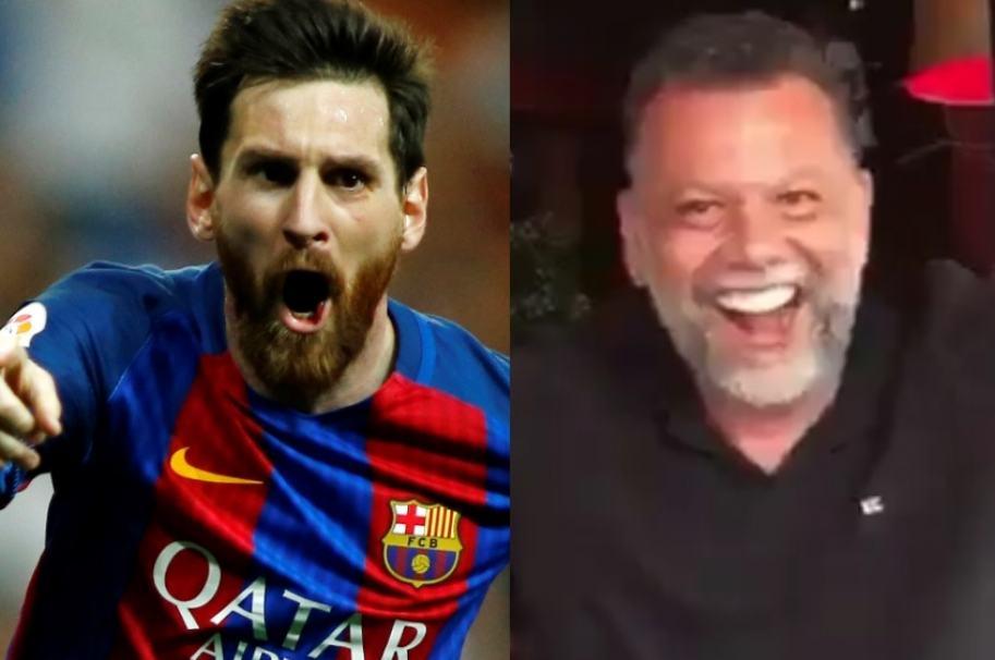 Lionel Messi y el sacerdote Alberto Linero