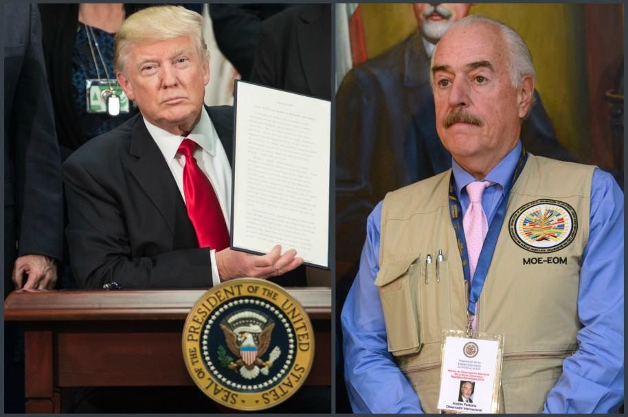 Donald Trump y Andrés Pastrana