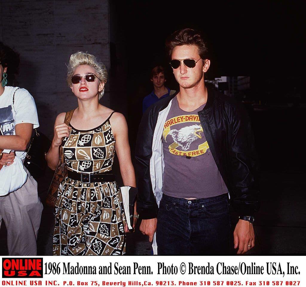 Madonna y Sean Penn en 1986