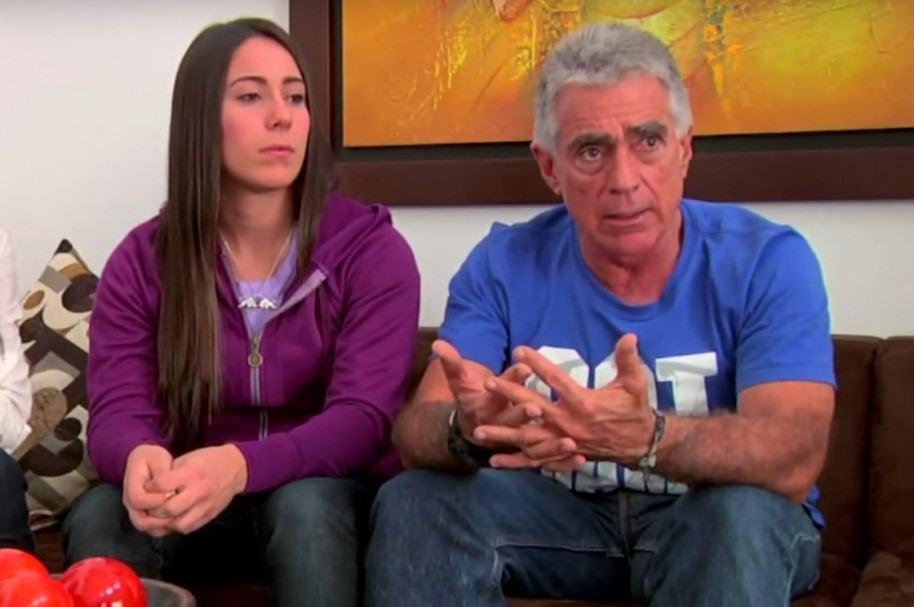 Mariana Pajón y su padre Carlos Mario