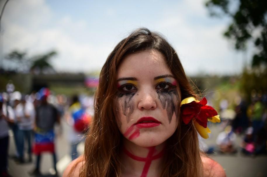 Opositora en Venezuela