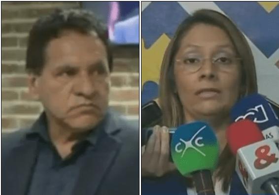 Óscar Alcides Márquez y la directora Seccional de Fiscalías, Carmen Torres