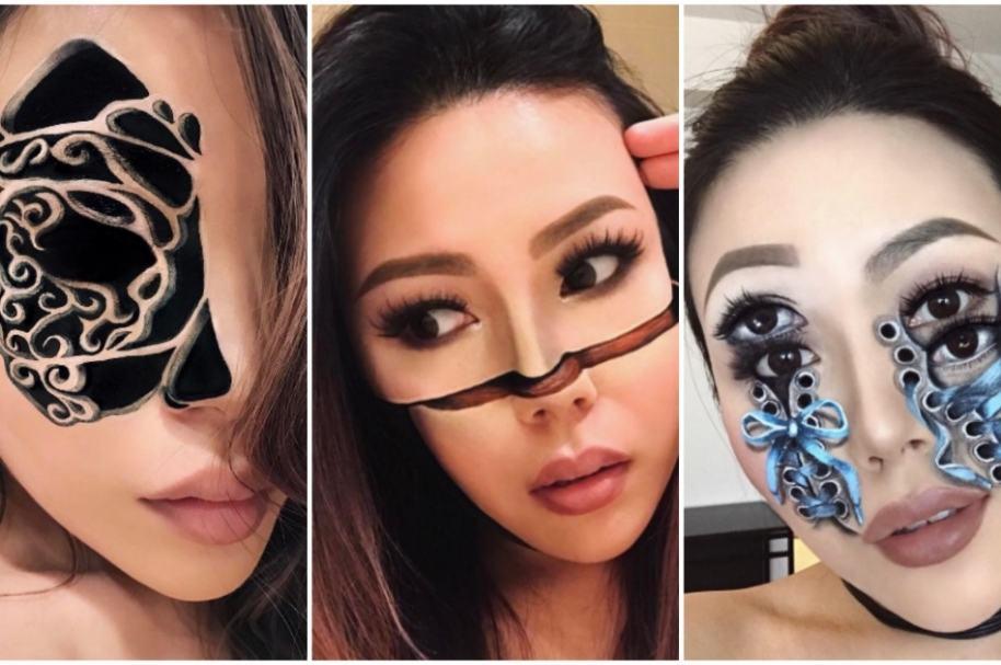 Ilusiones ópticas con maquillaje.