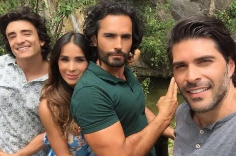Fracisco Bolívar, Catherine Siachoque, Fabián Ríos y Juan Pablo Llano
