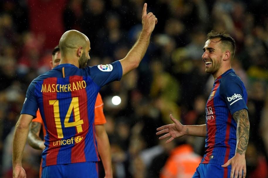 Mascherano anota su primer gol con Barcelona