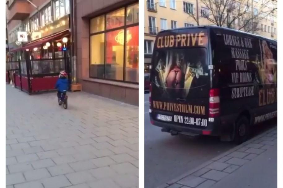 Niño que chocó con su bicicleta luego de ver anuncio erótico. Pulzo.com