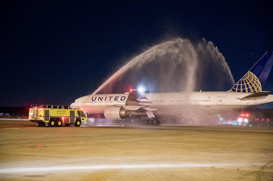 Avión Aerolinea United