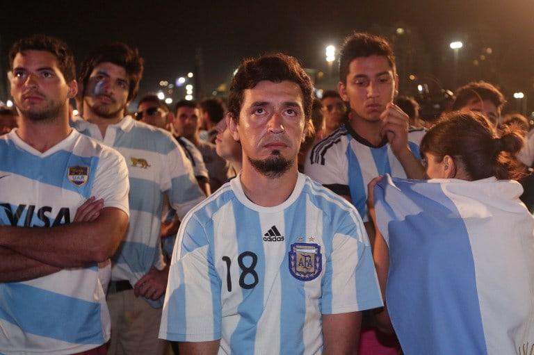 Hinchas de Argentina.
