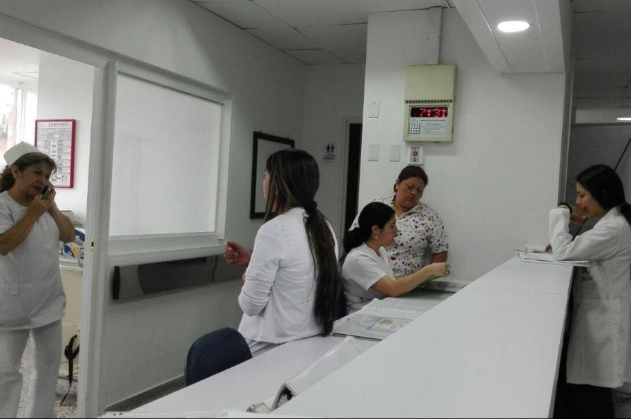 Médicas en hospital