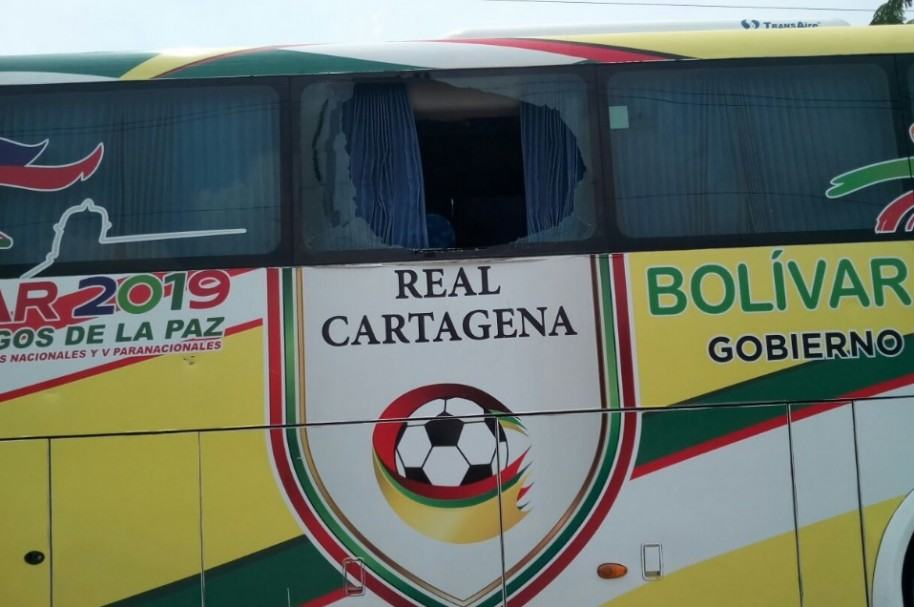 Bus apedreado de Real Cartagena