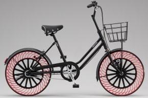 Bicicleta sin neumáticos