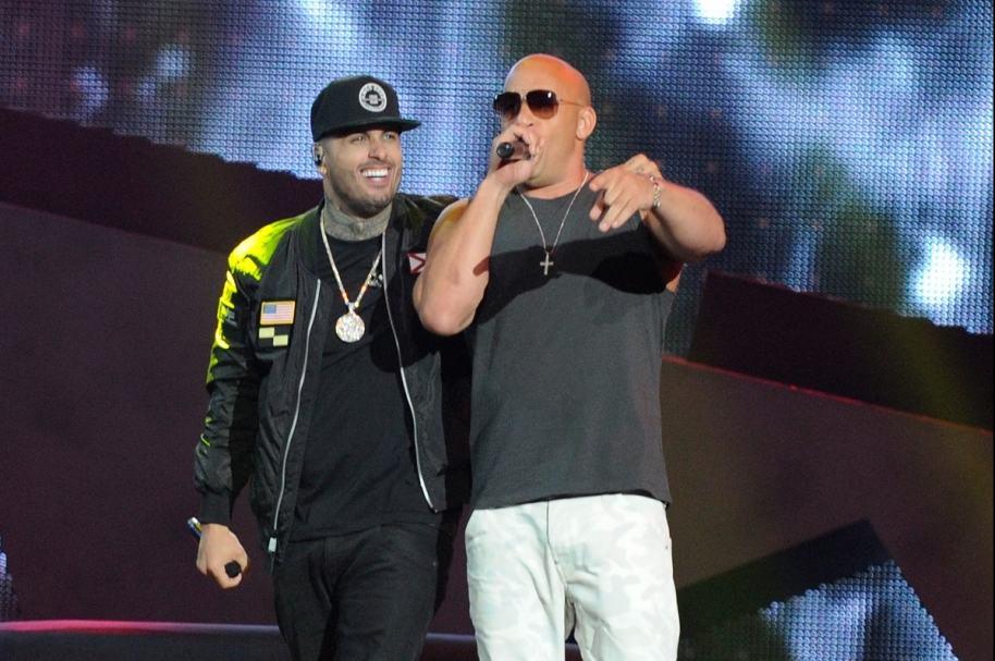 Nicky Jam y Vin Diesel en los Billboard latinos.