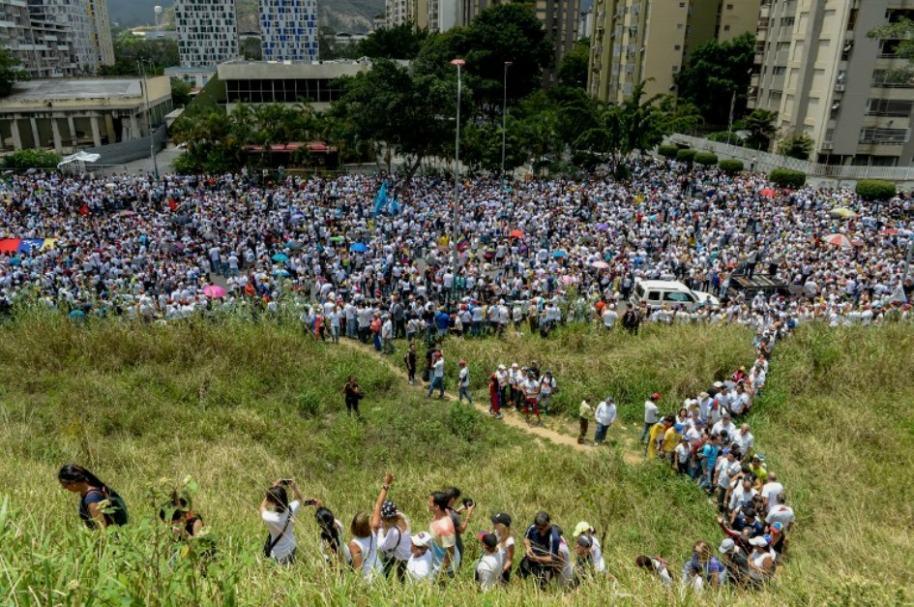 Marcha en silencio en Venezuela.
