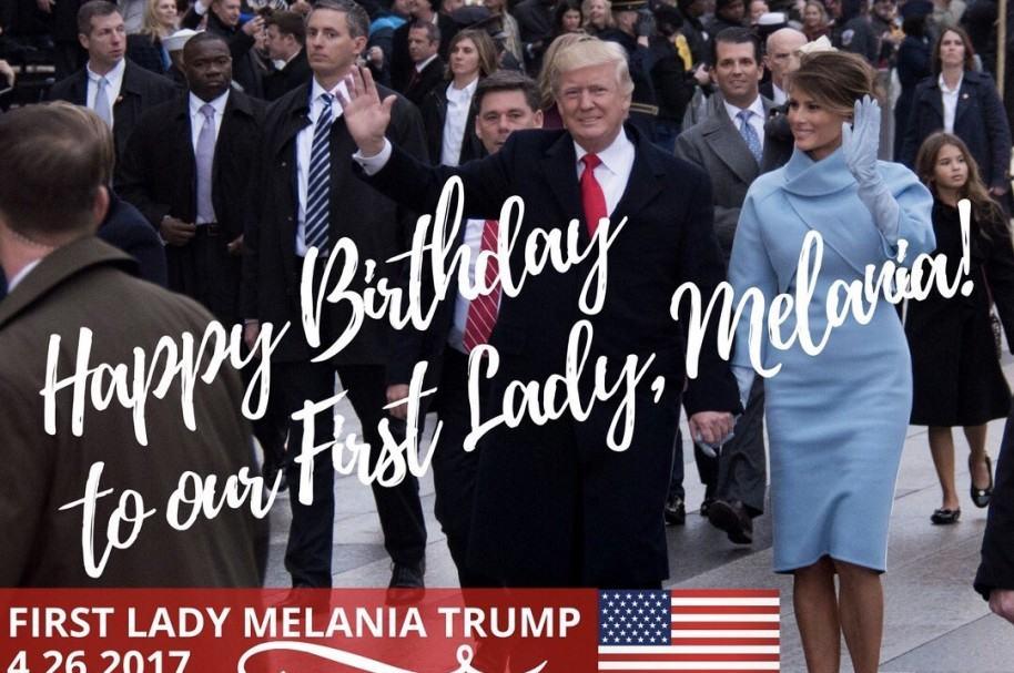 Tarjeta de Trump a Melania