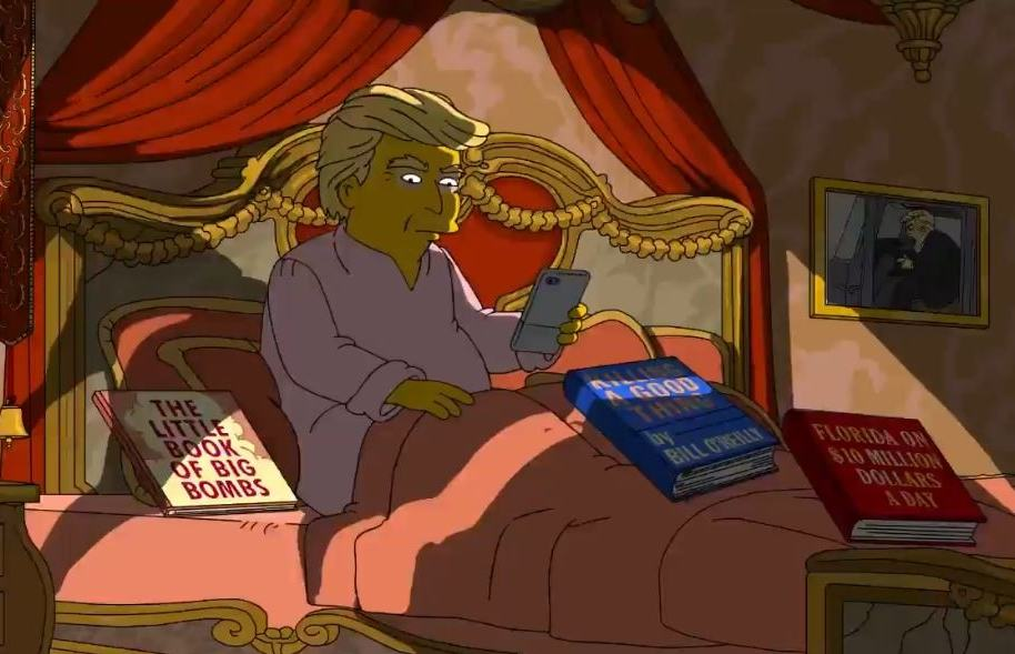 Donald Trump en la serie animada Los Simpson