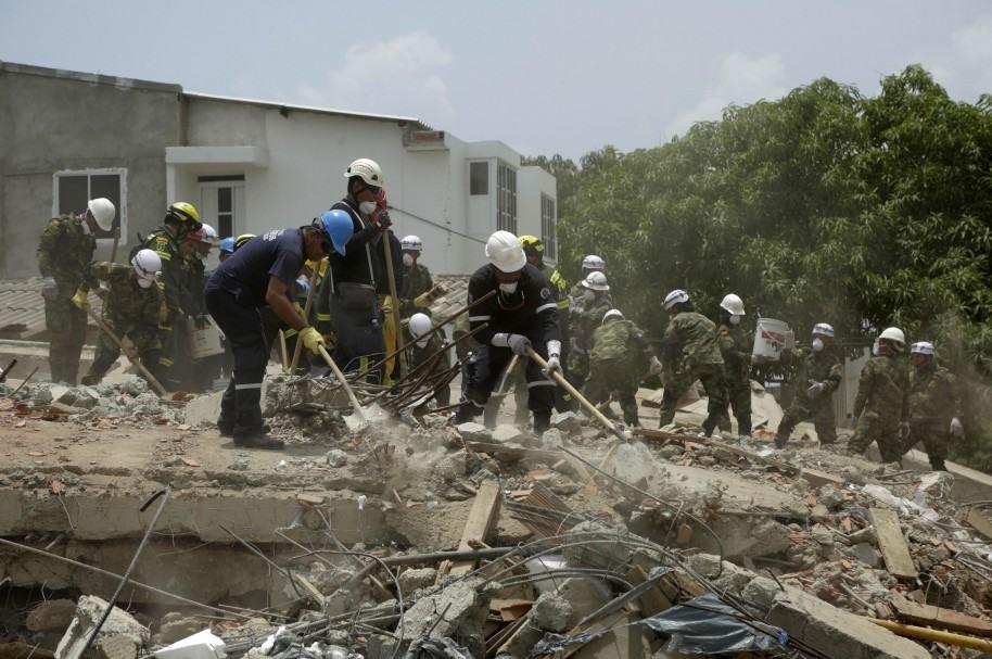 Derrumbe del edificio en Cartagena