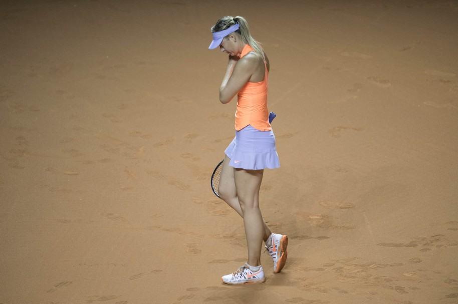 María Sharapova, tras la derrota