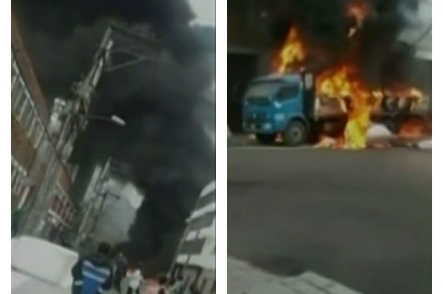 Incendio en Puente Aranda, Bogotá. Pulzo.com